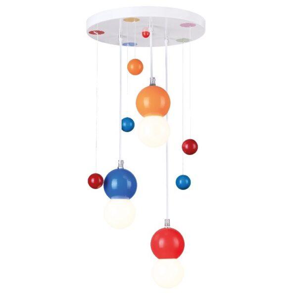 ACA Lighting Φωτιστικό Παιδικό Οροφής Κρεμαστό Πλαστικό με Μεταλλική Βάση Πολύχρωμο