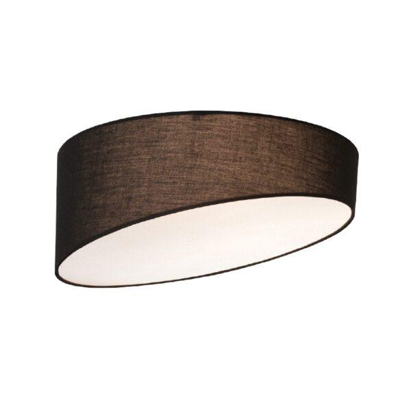 ACA Lighting Μοντέρνο Φωτιστικό Οροφής με Υφασμάτινο Καπέλο Μαύρο Τρίφωτο