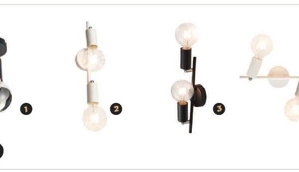 ACA Lighting Σποτ Επίτοιχο Οροφής Μεταλλικό Δίφωτο Περιστρεφόμενο Λευκό