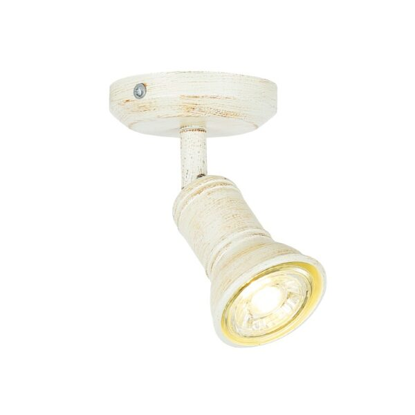 ACA Lighting Επίτοιχο Οροφής Σποτ Μεταλλικό Μονόφωτο σε Λευκό Αντικέ