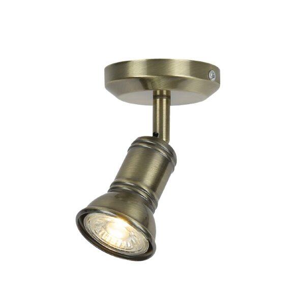 ACA Lighting Επίτοιχο Οροφής Σποτ Μεταλλικό Μονόφωτο Μπρονζέ