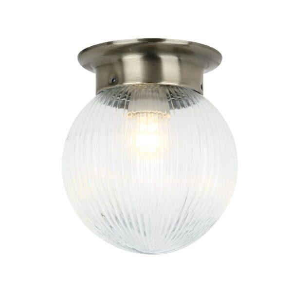 ACA Lighting Vintage Φωτιστικό Επίτοιχο ή Οροφής Γυάλινο με Μεταλλική Μπρονζέ Βάση