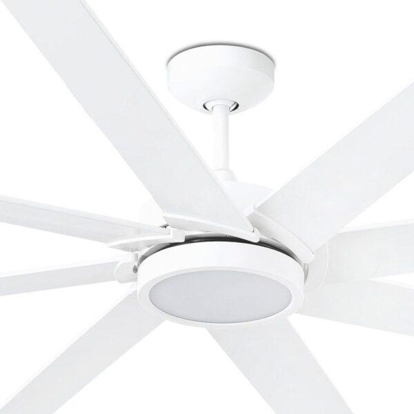 Ανεμιστήρας Οροφής με Φως LED με Τηλεχειριστήριο και 8 Έλικες Λευκός Faro Century