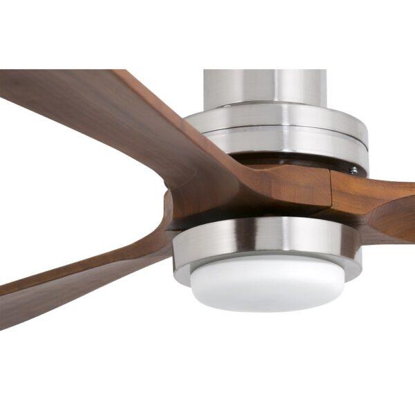 Ανεμιστήρας Οροφής με Φως LED 12Watt 3 Ταχυτήτων με Τηλεχειριστήριο και 3 Έλικες Ξύλινος Faro Lantau-G