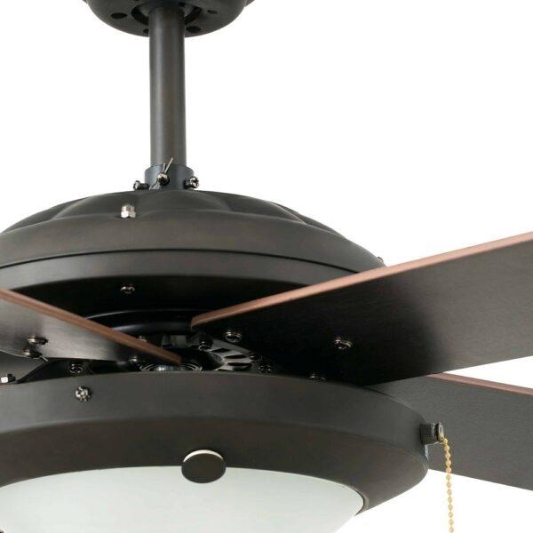 Ανεμιστήρας Οροφής με Φως 3 Ταχυτήτων Καφέ με 5 Ξύλινες Έλικες Faro Manila