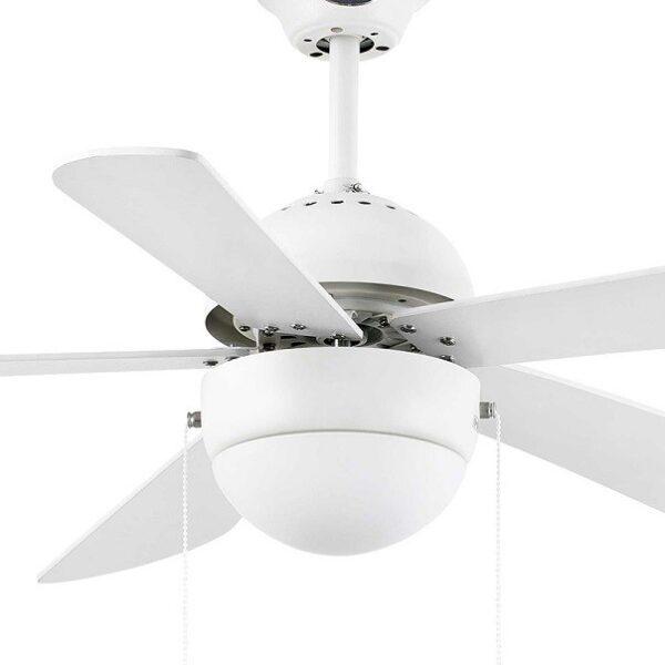 Ανεμιστήρας Οροφής με Φως Λευκός 3 Ταχυτήτων με 5 Ξύλινες Έλικες Faro Veneto