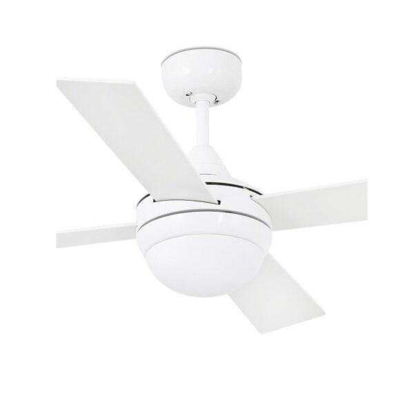 Ανεμιστήρας Οροφής με Φως 3 Ταχυτήτων Λευκό με 4 Έλικες Faro Mini Icaria με Τηλεχειριστήριο